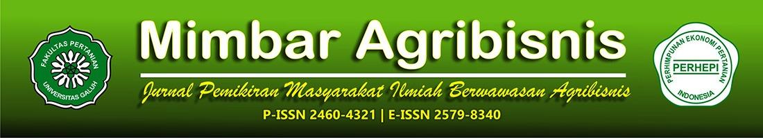 Mimbar Agribisnis: Jurnal Pemikiran Masyarakat Ilmiah Berwawasan Agribisnis